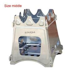 Lixada Folding Wood Stove Burner Outdoor Camping Stove in middle, small