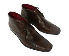 Red Tape Bartley Brown Lace Up Mens Leather Boots with Pointy Toe