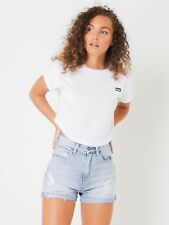 New Lee Womens Scoop Crop T Shirt In White Tops & T Shirts Exclusives