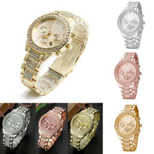 Fashion Luxury Women Rhinestone Stainless Steel Quartz Analog Causal Wrist Watch