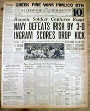 BEST 4 1936 hdl newspapers NAVY defeats NOTRE DAME in FOOTBALL GAME Baltimore MD