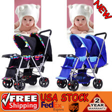 Twin Double Folding Baby Jogger Twin Tandem Double Stroller Jogging Pushchair