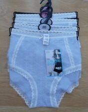 BNWT M&S Cotton Rich Shortie Style Knickers Pale Blue / Cream Size 18 20 22