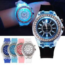 Ladies Womens LED Backlight Bling Quartz Wrist Watches Sport Watch Waterproof 0