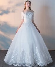 New Lace Wedding Dress any plus size custom made Bohemian Bridal princess gown