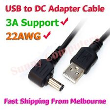 USB to DC 5V Speaker GPS MP3 MP4 PSP Power Charging Adapter Cable 90° Angle 3A