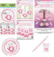 Umbrellaphants Pink Baby Shower Party Supplies Tableware Decorations