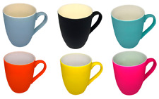 Coffee Porcelain Premium Mugs 12 Oz Matte Assorted Colors Tea Cups Mug Colored