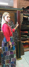 Boho Chic Gypsy Hippie Vintage Patchwork Indian Printed Ethnic Rayon Skirts