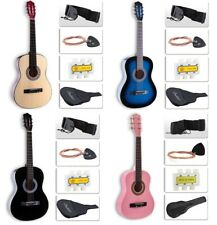 Beginners Acoustic Guitar with Case, Strap, Tuner, Pick & Steel Strings