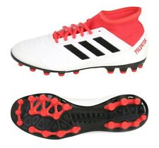 Adidas Men Predator 18.3 AG Cleats Soccer White Red Football Shoes Spike CP9307