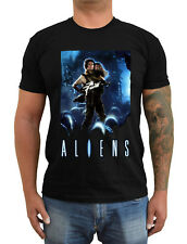 ALIENS Movie poster ver. 2 Sigourney Weaver T-Shirt (Black) S-5XL