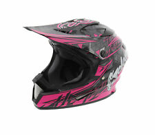 Cyclone ATV MX Motocross Dirt Bike Off-Road Helmet DOT/ECE Approved- Pink