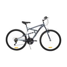 NEW 66CM HUFFY TERRAIN MOUNTAIN BIKE WITH DUAL SUSPENSIONAND 3 PIECE CRANK CYCLE