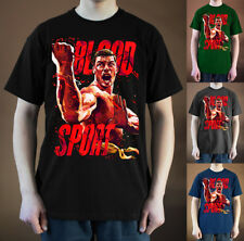 BLOODSPORT Movie poster ver. 3 Jean-Claude Van Damme T-Shirt (Black, navy) S-5XL