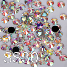 ss30 DMC Hotfix Rhinestone Crystal White Clear AB Iron On Hot Fix Strass