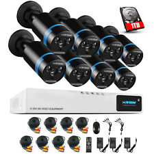H.View 1080P Home Security Camera System 8/4CH CCTV DVR Video Surveillance Kit