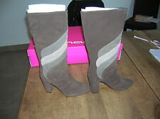 FORNARINA boots suede brown beige new value 190E Sizes 35 38,40