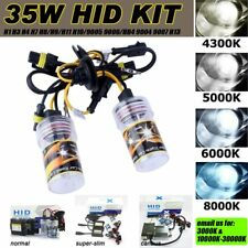 35W HID SUPER BRIGHT XENON HEADLIGHT CONVERSION KIT REPLACE CAR DRL FOGLIGHT 12V