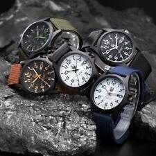 New Mens Military Sports Watch Stainless Steel Analog Army Quartz Wrist Watch 00