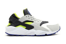 2013 NIKE AIR HUARACHE LE UK 12 11 10 9 8 7 6 WHITE NEON GREEN VOLT GREY QS OG