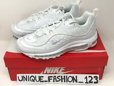 NIKE AIR MAX 98 TRIPLE WHITE PURE PLATINUM QS UK 6 7 8 9 10 11 12 97 640744-106