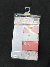 Brand-new Mothercare Bee and Floral Sleeveless Bodysuits - 5 Pack