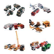 Diecast Truck Construction Ambulance Vehicles Bulldozer Forklift Crane Kids Toys