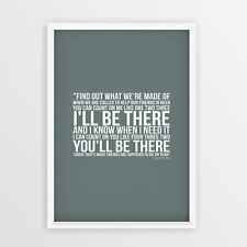 Bruno Mars Count on Me Lyrics printed on A4 A3 Size poster great gift idea