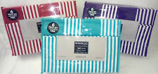 BAMBOO 6 PC SHEET SET DEEP POCKET WRINKLE FREE QUEEN KING VARIOUS COLORS