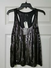 NWT 7 FOR ALL MANKIND Black Sequin Top N42766381 Size XS L