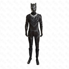 Black Panther T'Challa Cosplay Costume Black Jumpsuit Mask Gloves Footstraps Set