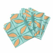 Organic Geometric Graphic Home Dec Cotton Dinner Napkins by Roostery Set of 4