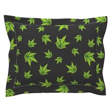Marijuana Cannabis Grass Reefer Psychedelic Drugs Weed Pillow Sham by Roostery