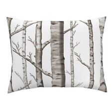 Forest Birch Trees Woods Birch Tree Trees Birch Forest Pillow Sham by Roostery