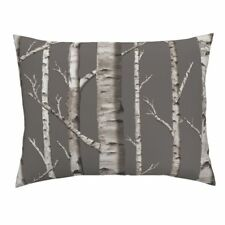 Birch Grove Birch Forest Woods Forest Birches Trees Pillow Sham by Roostery