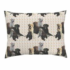 Labrador Retrievers Lab Dogs Animals Paisley Pastel Pillow Sham by Roostery