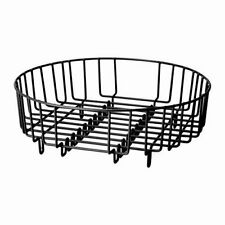 Heavy Duty Steel 37cm Dia Round 2 in 1 Dish Drainer  Rinsing Basket - Fit all