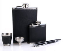 Hip flask stainless steel flask set