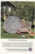 1964 Insured Savings and Loan: The Dollar That Grows Vintage Print Ad