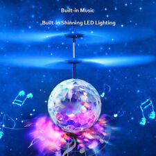 Flash Flying Ball Infrared Induction Colored LED Music RC Helicopter Kids Toys