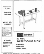 Sears Craftsman Wood Metal Lathe Owners Manual Many Models Available