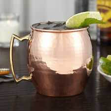 New 4 Moscow Mule Mug Cup Drinking Hammered Copper Brass Steel Gift Set,18 Oz