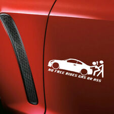 No Free Rides Gas Or Ass Funny Car Window Sticker Decal Waterproof Truck Bumper