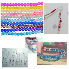 Lots Crackle Lampwork Glass Round Beads Jewelry Craft Making, 8mm,1.3mm Hole