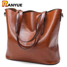 Fashion Women Handbag PU Oil Wax Leather Women Bag Large Capacity Tote Bag Big