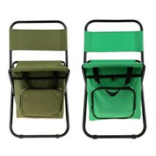 Portable Folding Camping Chair with Cooler Bag Backpacking Hiking Picnic
