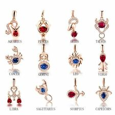 Women Crystal Pendant Constellation Rose Gold Plated Jewelry Necklace