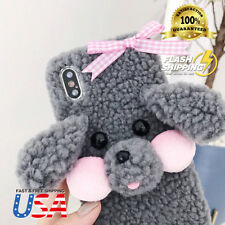 Cute 3D soft Teddy Bear Puppy 🐩 Doll Toy Plush Case Cover For iPhone X 8 7 Plus