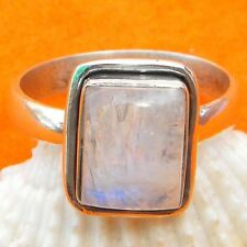 925 Sterling Silver Rainbow Moonstone Ring,Rainbow Ring,Handmade Moonstone Ring